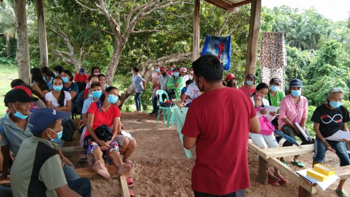 Pastor David conducting Renew program in his community in the time of COVID-19