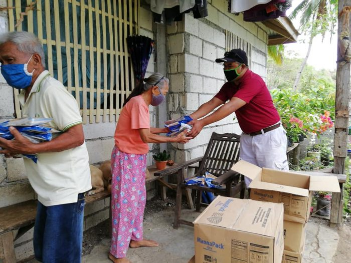 Handing out food in the time of COVID-19